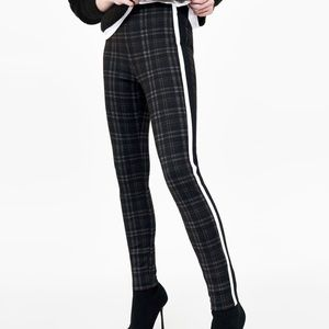 Zara plaid leggings S